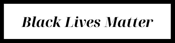 Banner reading Black Lives Matter